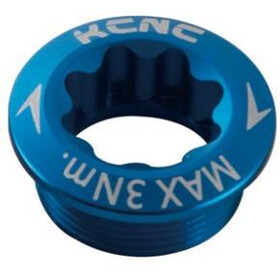 KCNC Crank Bolt for Shimano Crank Arm left blue